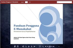 E Munakahat Aplikasi Nikah Cerai Ruju Pulau Pinang